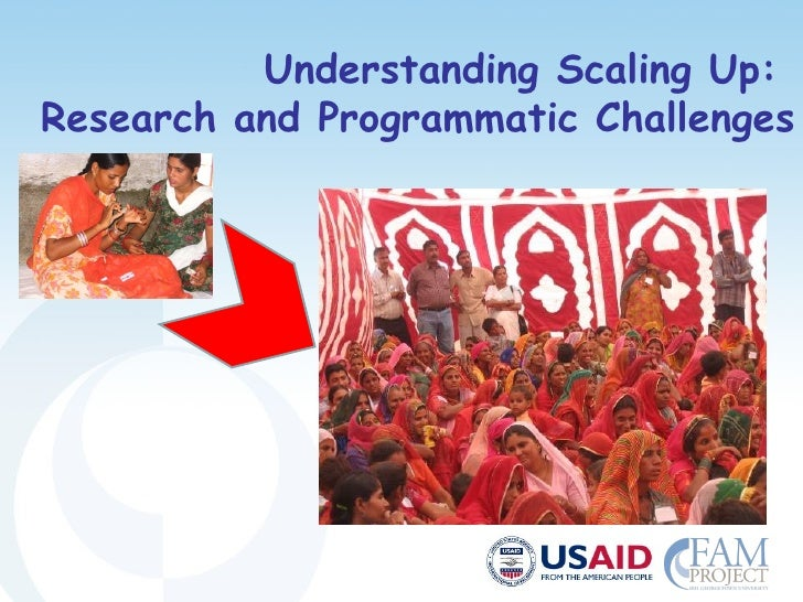 Understanding Scaling Up: Research and Programmatic Challenges
