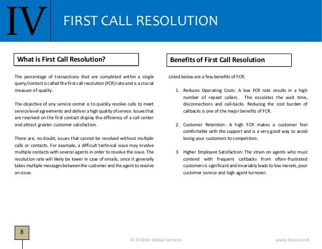 White Paper on Call Center Metrics (31West Knowledge Series)
