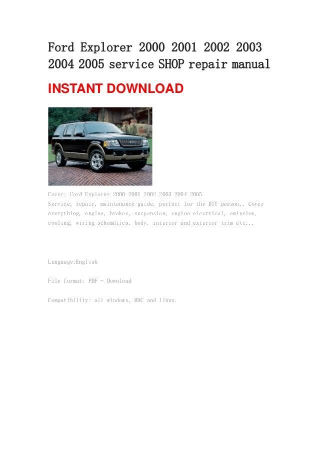 Ford Explorer   Repair Manual Rh Slideshare Net Ford Focus Manual