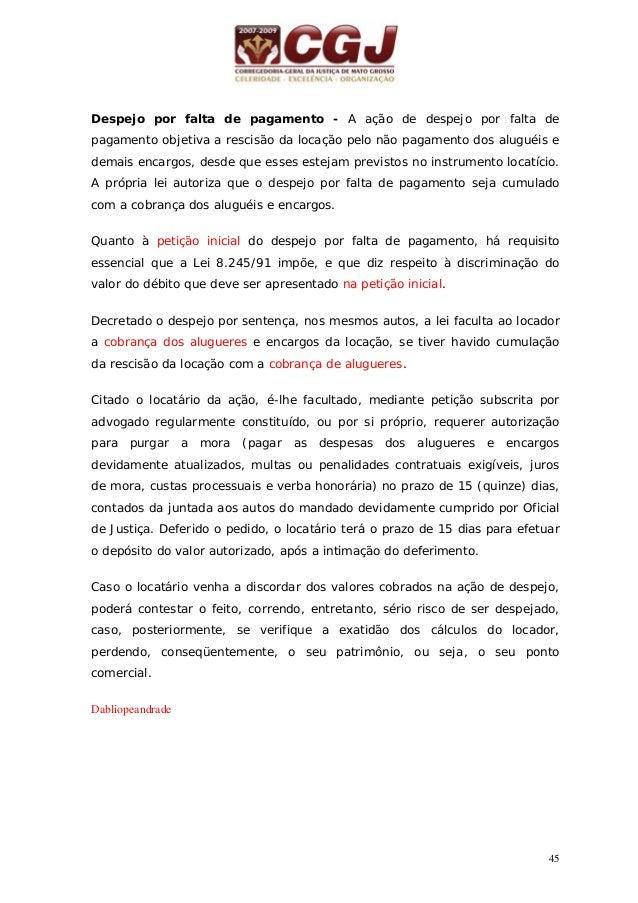 46 16 - DIVISÃO (Arts 967/981) 9 954/955 20 dias(comuns) 10 dias 10 dias 10 dias 10 dias 10 dias 10 dias Petição inicial a...