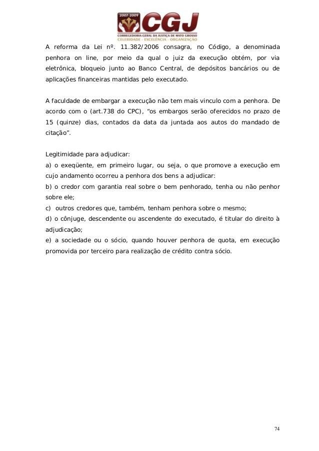 """75 26 - EXECUÇÃO POR QUANTIA CERTA COM BASE EM SENTENÇA """"DO CUMPRIMENTO DA SENTENÇA"""" ( art. 471-I a 475-M do CPC) Sentença..."""