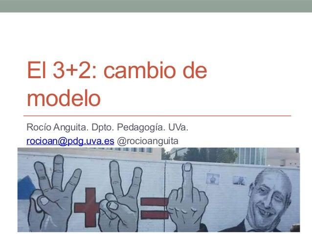 El 3+2: cambio de modelo Rocío Anguita. Dpto. Pedagogía. UVa. rocioan@pdg.uva.es @rocioanguita