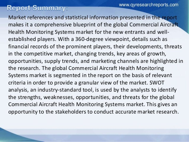 Market references and statistical information presented in the report makes it a comprehensive blueprint of the global Com...