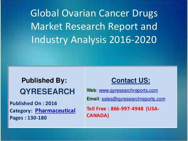 Global Ovarian Cancer Drugs Market Shares Application Gross Revenu
