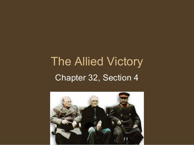 32 4 the allied victory rh slideshare net  chapter 16 guided reading the allied victory answers