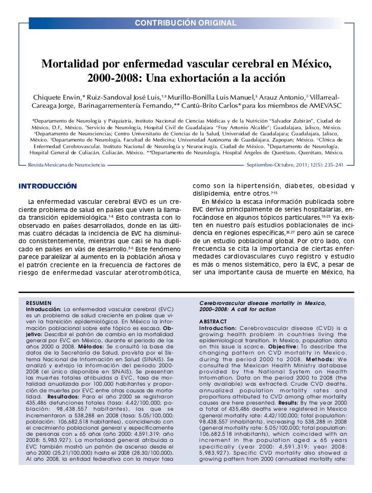 CONTRIBUCIÓN ORIGINALRev Mex Neuroci 2011; 12(5): 235-241                                                                 ...