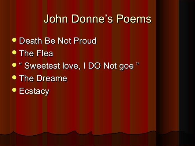analyze donne's duplicity as a lover 2018-06-11 each stanza develops an aspect of the problem of separation from one's beloved in the first stanza the lover wards off any fear of a  this poem bears similarities to donne's other work about departure from his.