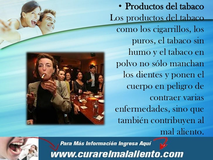 Tratamiento para curar el mal olor de la boca - Como eliminar el humo del tabaco en una habitacion ...