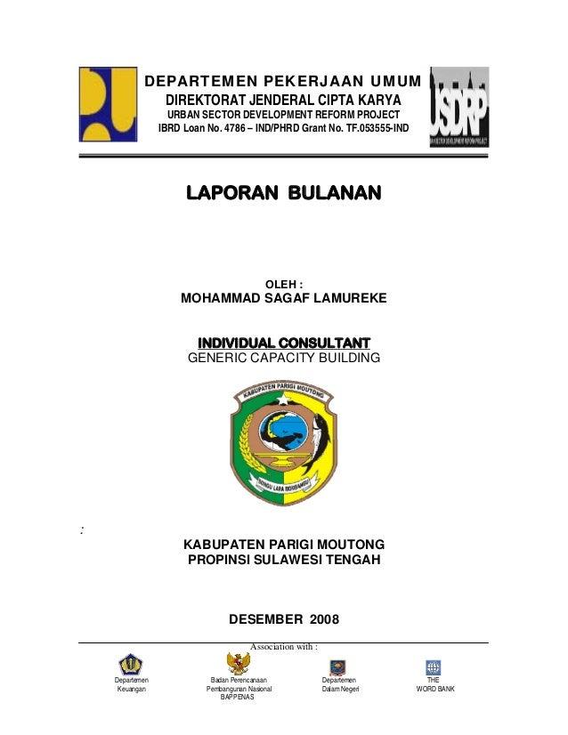 Association with :Departemen Badan Perencanaan Departemen THEKeuangan Pembangunan Nasional Dalam Negeri WORD BANKBAPPENASL...