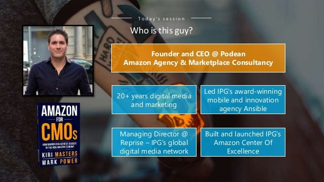 20+ years digital media and marketing Founder and CEO @ Podean Amazon Agency & Marketplace Consultancy Built and launched ...