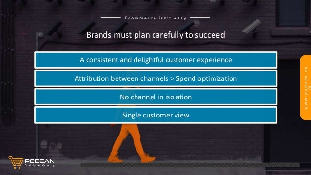 www.podean.co m Brands must plan carefully to succeed E c o m m e r c e i s n ' t e a s y A consistent and delightful cust...