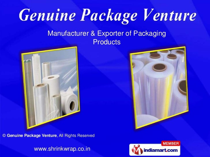 Manufacturer & Exporter of Packaging                                   Products© Genuine Package Venture, All Rights Reser...