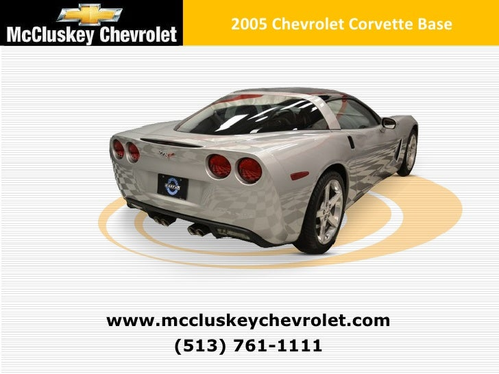 Used 2005 Chevrolet Corvette Base Coupe At Your Chevy