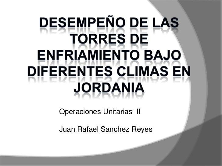 Operaciones Unitarias IIJuan Rafael Sanchez Reyes