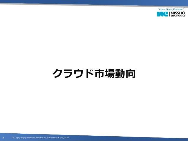 クラウド市場動向5   All Copy Right reserved by Nissho Electronics Corp,2012