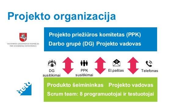 © Tieto Corporation Public Projekto organizacija DG susitikimai El.paštas TelefonasPPK susitikimai Projekto priežiūros kom...