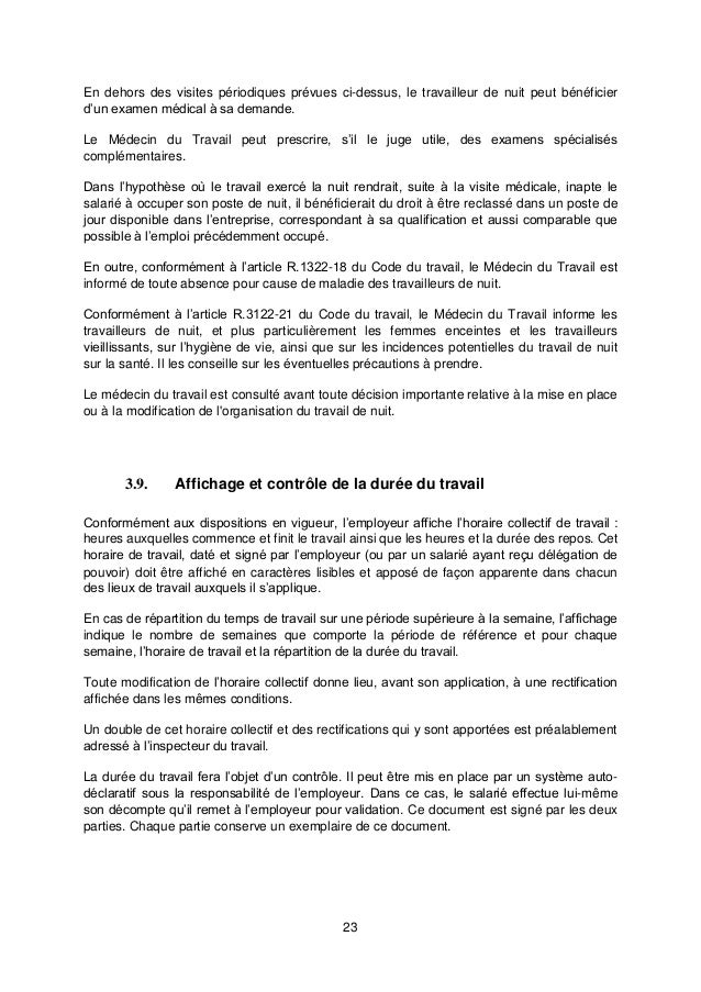 Idcc 3203 Accord Duree Du Travail
