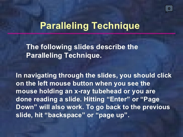 0       Paralleling Technique   The following slides describe the   Paralleling Technique.In navigating through the slides...