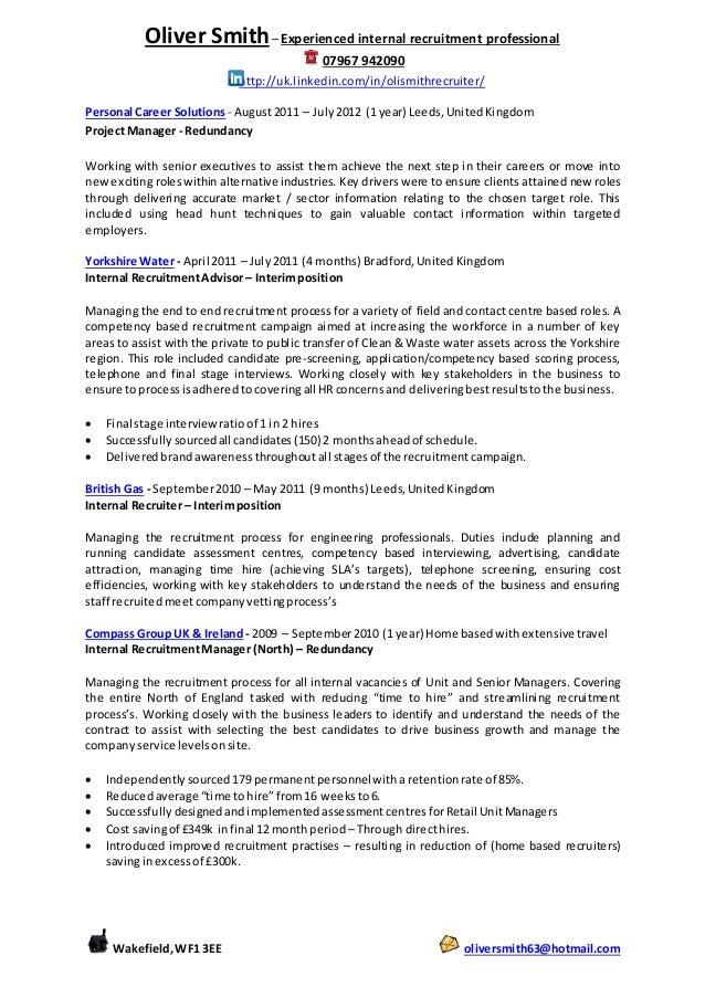 Perfect Internal Recruitment Manager Lebenslauf Frieze - FORTSETZUNG ...
