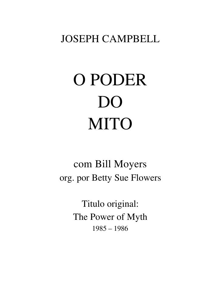 3207629 Joseph Campbell O Poder Do Mito