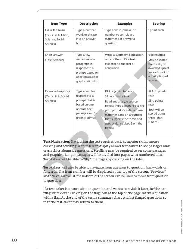 ged essay sample