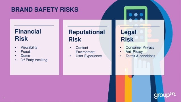 1 BRAND SAFETY RISKS • Viewability • Fraud • Demo • 3rd Party tracking Financial Risk • Content Environment • User Experie...