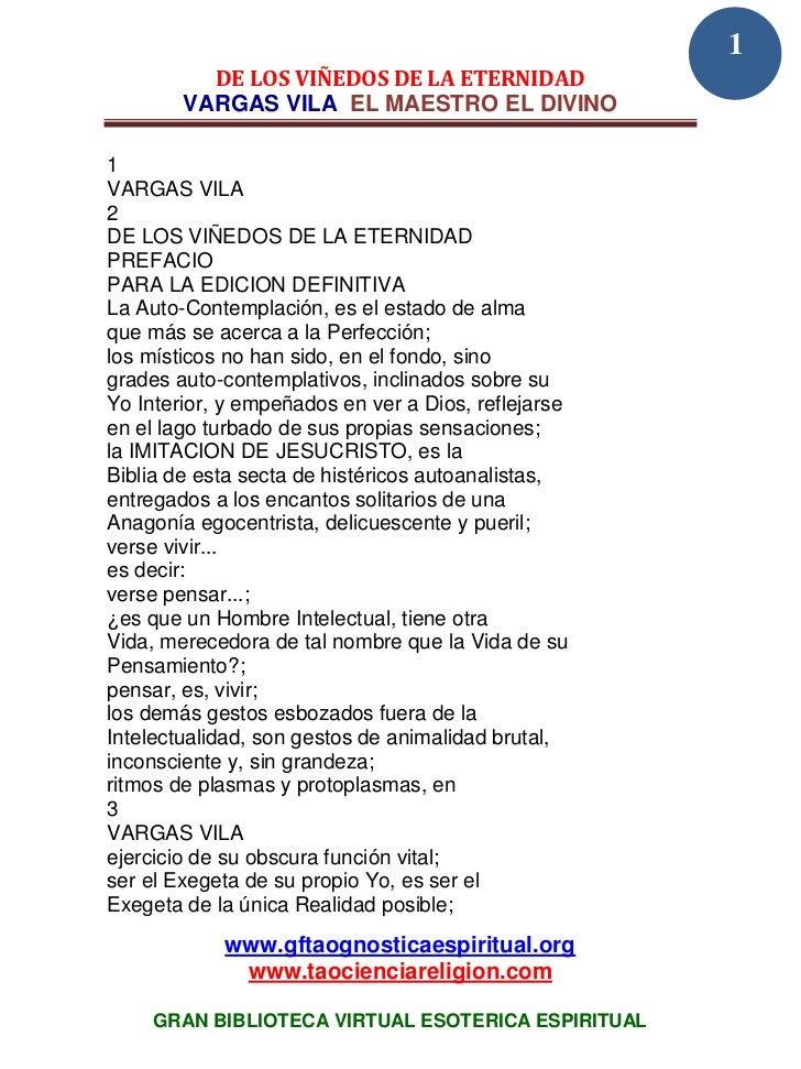 1          DE LOS VIÑEDOS DE LA ETERNIDAD        VARGAS VILA EL MAESTRO EL DIVINO1VARGAS VILA2DE LOS VIÑEDOS DE LA ETERNID...