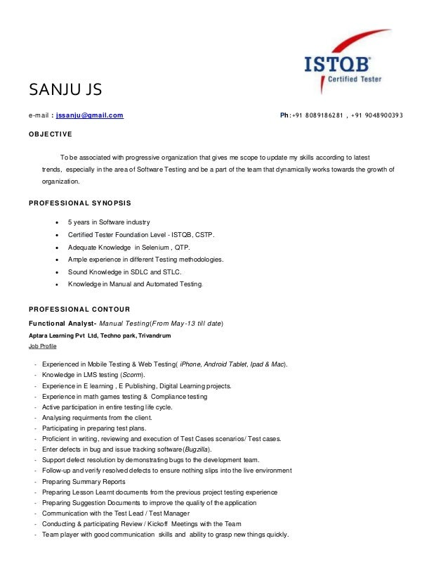 SANJU JS e-mail : jssanju@gmail.com Ph:+91 8089186281 , +91 9048900393 OBJECTIVE To be associated with progressive organiz...