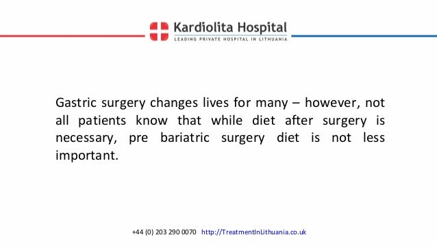 Pre Bariatric Surgery Diet Preparing For Gastric Surgery Abroad