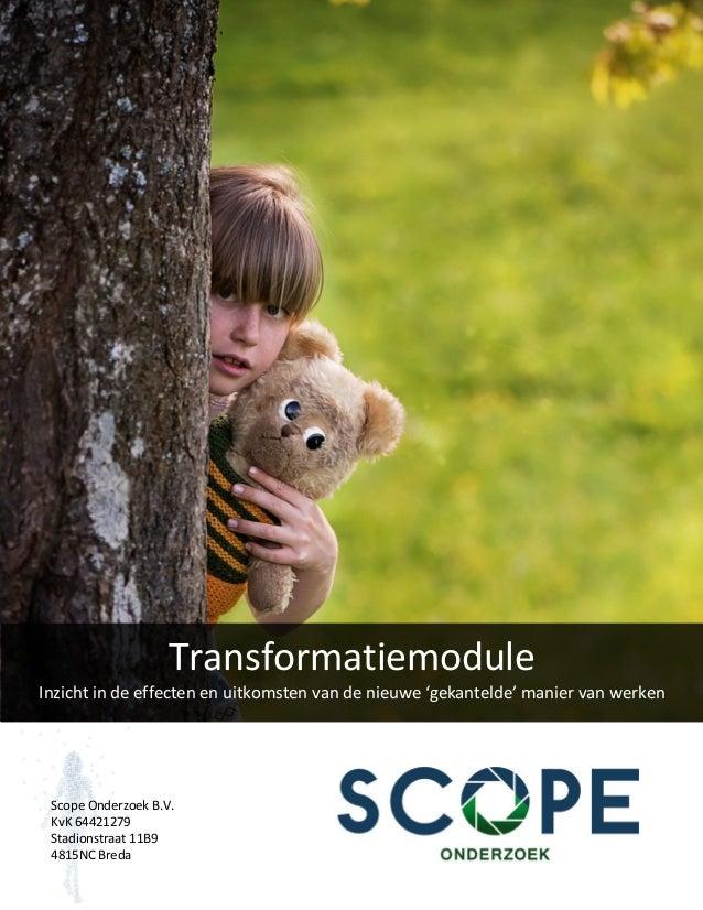Transformatiemodule Inzichtindeeffectenenuitkomstenvandenieuwe'gekantelde'maniervanwerken   ScopeOnderzoe...