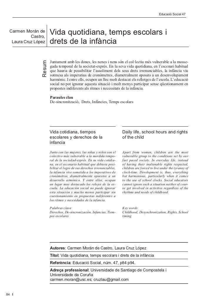 Editorial                                                                    Educació Social 47 Social 47       ...