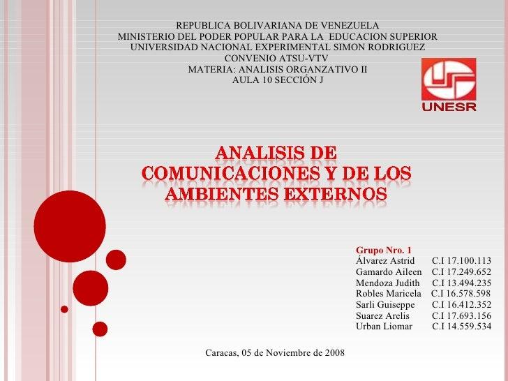 Grupo Nro. 1 Álvarez Astrid  C.I 17.100.113 Gamardo Aileen  C.I 17.249.652 Mendoza Judith  C.I 13.494.235 Robles Maricela ...