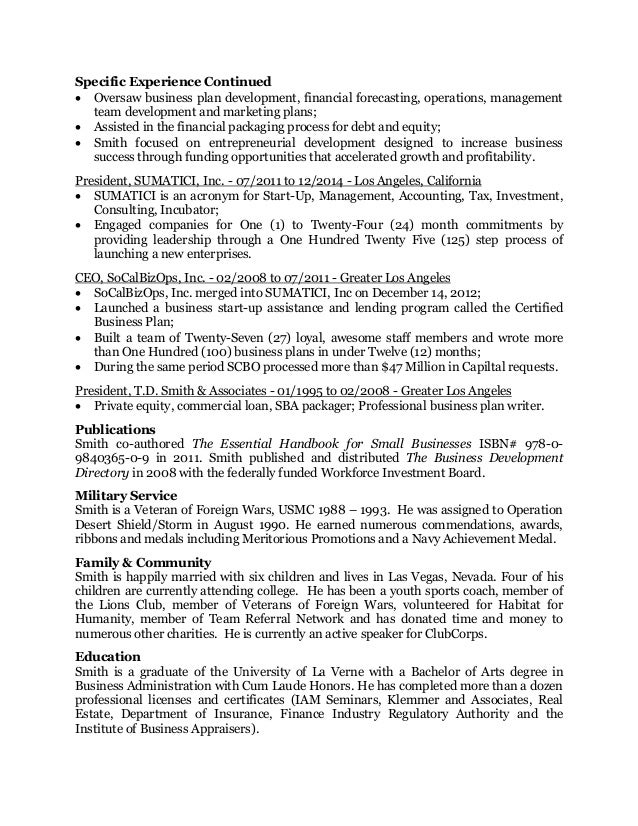 tony drexel smith resume