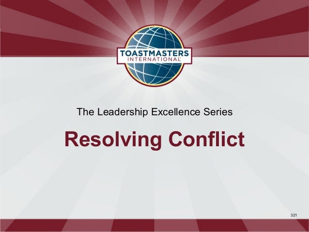 The Leadership Excellence SeriesResolving Conflict                                    321