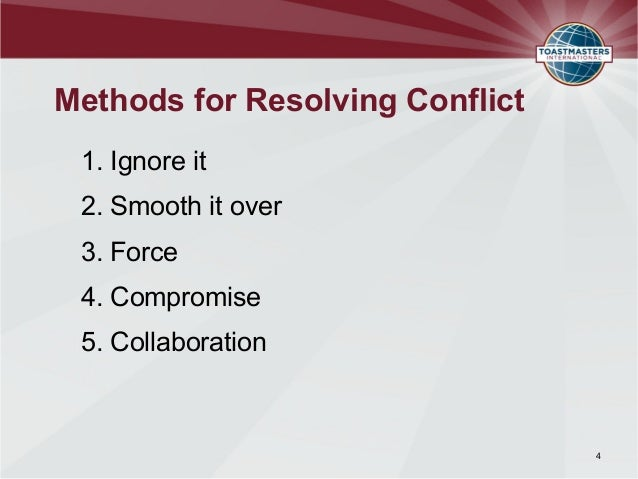 conflict resolution methods ppt