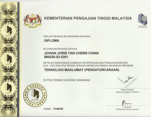 polytechnic diploma certificate