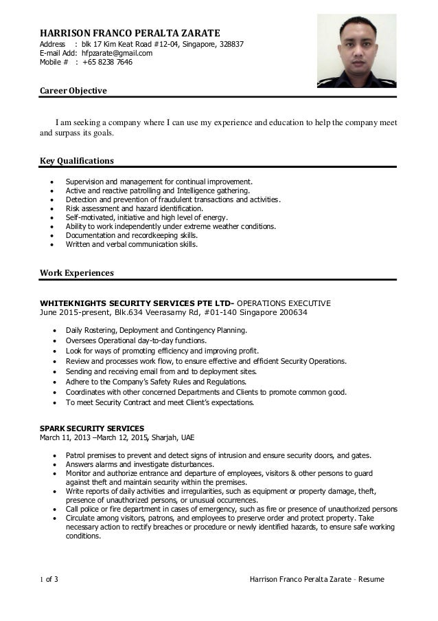 Criminology Resume Template