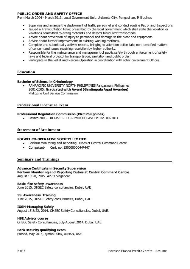 2 - Cv Or Resume In Singapore