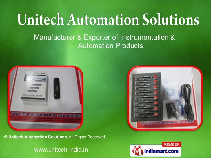 Manufacturer & Exporter of Instrumentation &                           Automation Products© Unitech Automation Solutions, ...