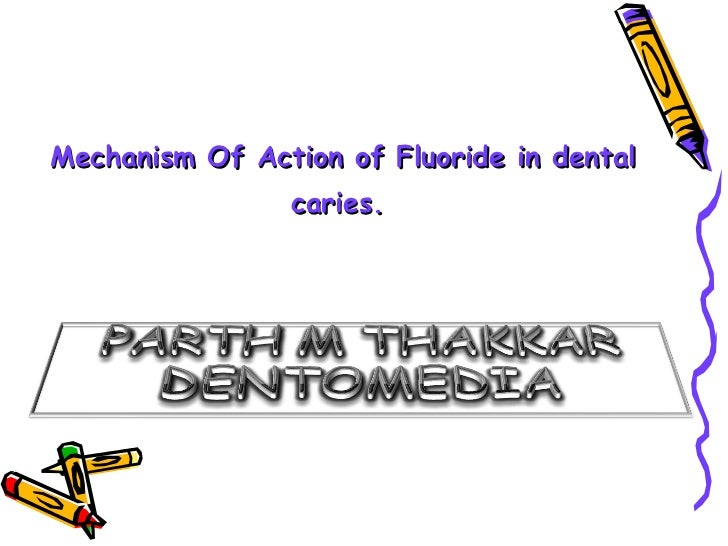 Mechanism Of Action of Fluoride in dental                caries.