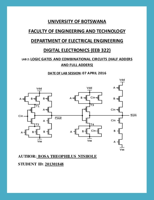 Digital Electronics Half Adders And Full Adders