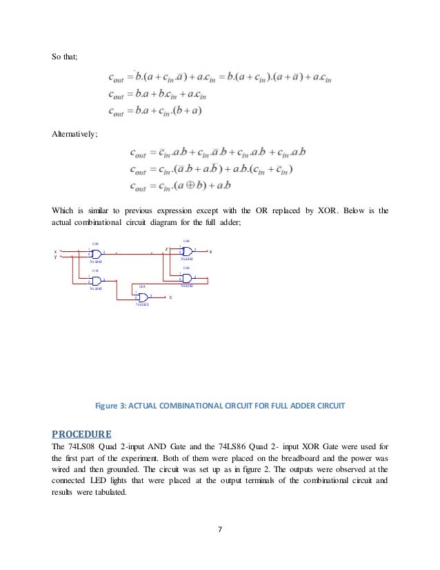 Half Adder And Full Adder Circuit Diagram | Digital Electronics Half Adders And Full Adders