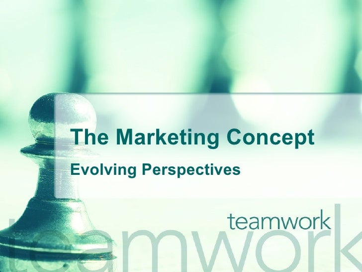 The Marketing Concept Evolving Perspectives