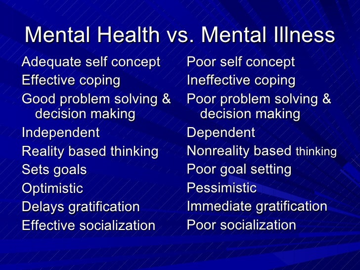 Difference between Mental Illness and Personality Disorder