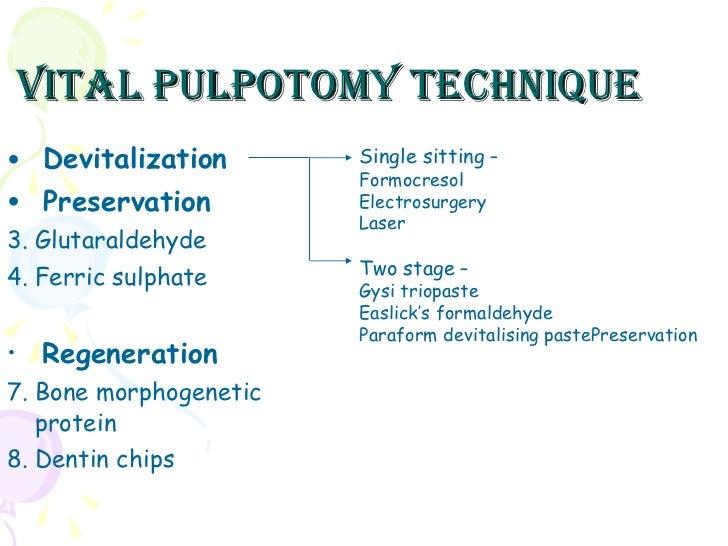 6 vital pulpotomy