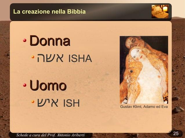 25Schede a cura del Prof. AribertiLa creazione nella BibbiaLo scontro tra Marduk e TiamatGn 1