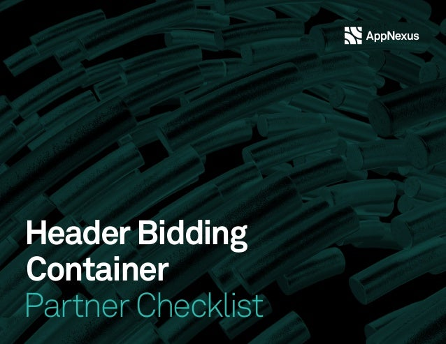 Header Bidding Container Partner Checklist
