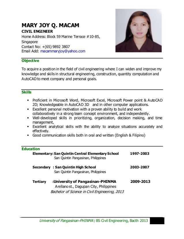 Maryjoymacam Cv
