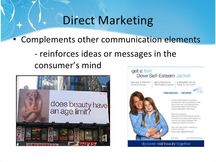 dove integrated marketing communication campaign The dma integrated marketing integrated marketing communications imc is an approach to achieving the objectives of a marketing campaign.