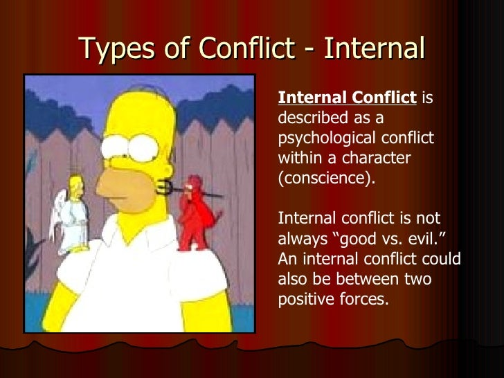 internal and external conflicts essay The internal conflict in the essay, shooting an elephant by george orwell pages 1 words 724 view full essay more essays like this: not sure what i'd.